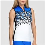 Tail Byron Placed Spot Sleeveless Mock Top