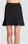 "Tail Dory 18"" Flounce Black Golf Skort"
