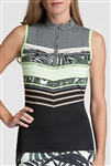 Tail Kiera Sleeveless Mandarin Mock - Palm Stripe