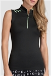 Tail Kathleen Sleeveless Performance Top - Black