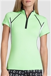 Tail Riley Short Sleeve Mock - Honeydew