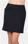 Tail Flounce Black Golf Skort