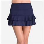 Tail Doubles Ruffle Navy Tennis Skort