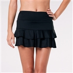 Tail Doubles Ruffle Tennis Skort - Black