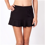 Tail Jennifer Flounce Black Tennis Skort