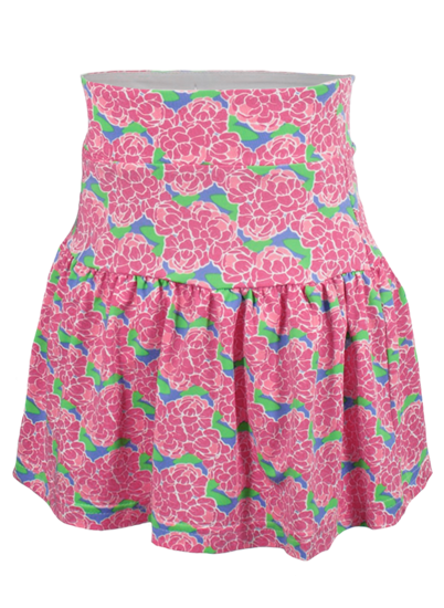 Garb Everly Girls Pink/Green Floral Golf Skort