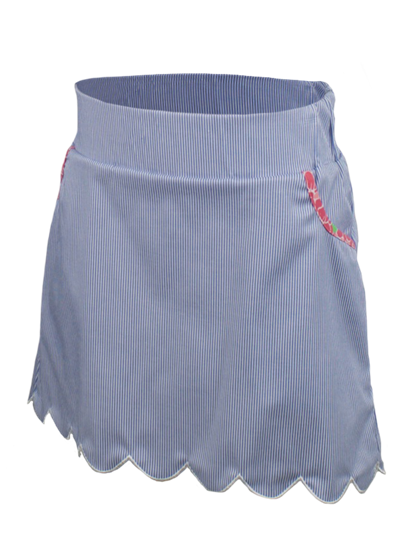 Garb Quinn Girls Golf Skort - Seersucker