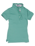 Garb Phyllis Girls Golf Polo - Teal