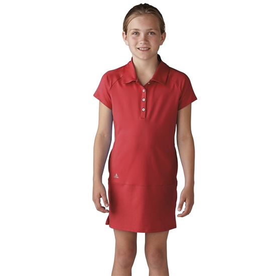 Adidas Girls Adistar Rangewear Golf Dress - Shock Red
