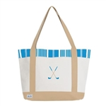 A&L Golf Lovers Tote - Ticking Stripe