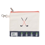 A&L Golf Crossed Clubs Tee Pouch - Pineapple