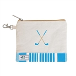 A&L Golf Crossed Clubs Tee Pouch - Ticking Stripe