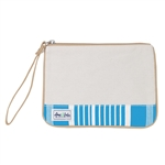 A&L Forget Me Not Wristlet - Ticking Stripe