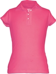 Garb Audra Short Sleeve Polo Hot Pink