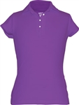 Garb Audra Short Sleeve Polo Purple