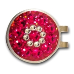 Blingo Ballmark with Hat Clip Red Glitter