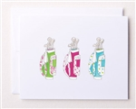 Bloom Design Note Cards - 3 Golf Bags | Golf4Her
