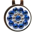 Blingo Ballmark with Hat Clip - Blue & White