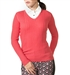 Chase54 Ladies Nina V-neck Sweater Papaya