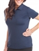 Chase54 Ladies Alba Short Sleeve Golf Polo Blue Zircon