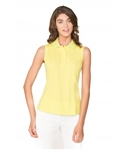 Chase54 Ladies Elena Sleeveless Polo - Citron