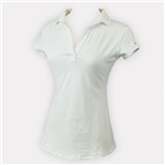 Ella Belle Perfect Short Sleeve Polo - White