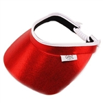 Glove It Ladies Golf Visors (w/Twist Cord) - Red Clear Dot