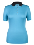 Tail Catherine Essentials Polo - Blue Mist