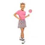 Golftini Girl Junior Signature Golf Skort - Party Time