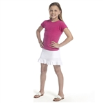 Golftini Girl Junior Pull On Tech Golf Skort White
