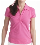 Golftini Short Sleeve Button Polo Hot Pink