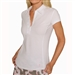 Golftini Short Sleeve Ruffle Polo White