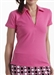 Golftini Short Sleeve Zip Polo Hot Pink