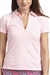 Golftini Short Sleeve Zip Polo Pink