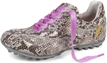 Henry & Magda Python Print Ladies Golf Shoe-Taupe