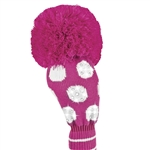 Just4Golf Sparkle Driver Headcover Large Pink/White Dot