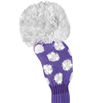 Just4Golf Fairway Sparkle Purple/White Dot