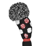 Just4Golf Fairway Headcover Sparkle Multi Dot Red