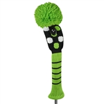 Just4Golf Fairway Headcover - Lime Multi Dot