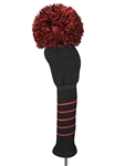Just4Golf Driver Headcover - Black/Red