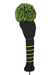 Just4Golf Driver Headcover - Black/Lime Green