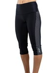 JoFit Evolution Capri Tight - Diagonal Stripe