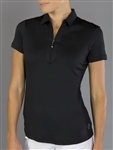 Jofit Jacquard Short Sleeve Polo Black