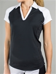 Jofit Blocked Jo Tech Polo Black/White