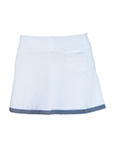 JoFit Banded Swing Skort White/Blue Stripe