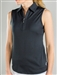 Jofit Sleeveless Jacquard Polo Black