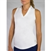 JoFit Tech Cut Away Sleeveless Polo - White