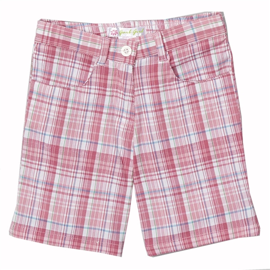 Garb Kristina Pink Plaid Golf Shorts