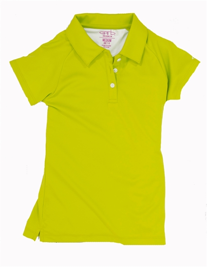 Garb Monica Short Sleeve Youth Golf Polo - Lime