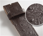 Druh Ostrich Textured Leather Belt Straps